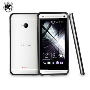 FlexiFrame HTC One 2013 Bumper Case - Black / Clear
