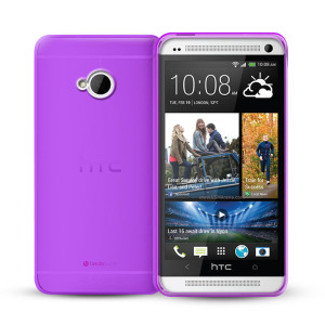 FlexiShield Case for HTC One 2013 - Purple