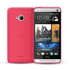 FlexiShield Case for HTC One - Red