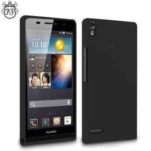 FlexiShield Case for Huawei Ascend P6 - Smoke Black