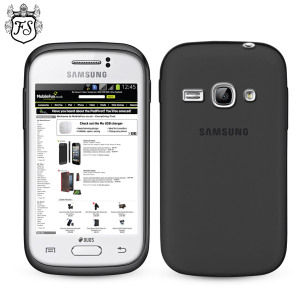 FlexiShield Case for Samsung Galaxy Fame - Smoke Black