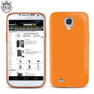 FlexiShield Case for Samsung Galaxy S4 - Orange
