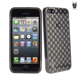 FlexiShield Diamond Skin For iPhone 5S / 5 - Smoke Black
