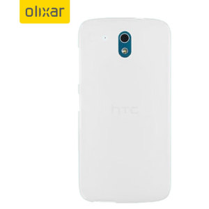 ... larger images of FlexiShield HTC Desire 526 Gel Case - Frost White