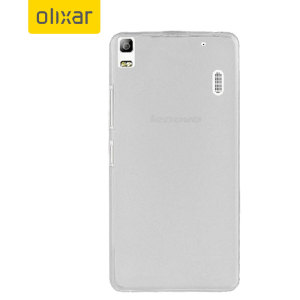 FlexiShield Lenovo A7000 Gel Case - Frost White
