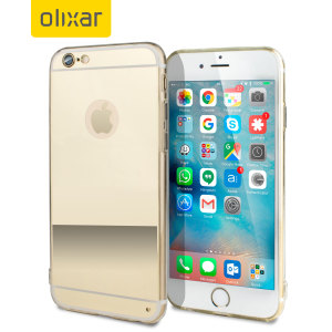 FlexiShield Mirror iPhone 6S / 6 Gel Case - Gold
