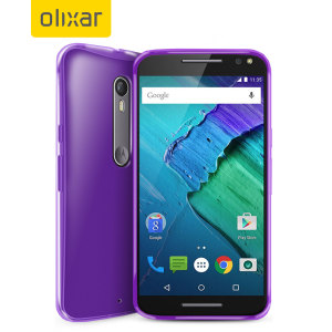 FlexiShield Motorola Moto X Style Gel Case - Purple