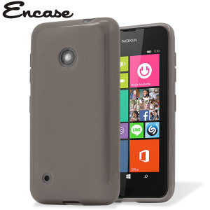 Flexishield Nokia Lumia 530 Gel Case - Smoke Black