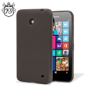 Flexishield Nokia Lumia 630 / 635 Gel Case - Smoke Black