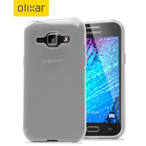 FlexiShield Samsung Galaxy J1 2015 Gel Case - White