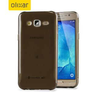 FlexiShield Samsung Galaxy J5 2015 Gel Case - Smoke Black