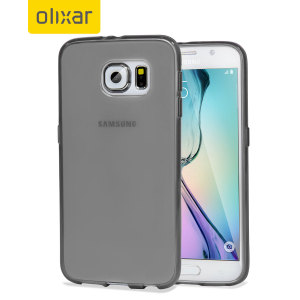 FlexiShield Samsung Galaxy S6 Gel Case - Smoke Black