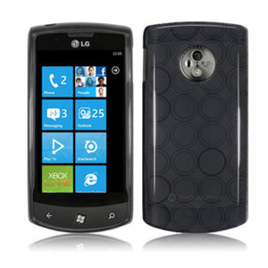 FlexiShield Skin For LG Optimus 7 - Transparent Black