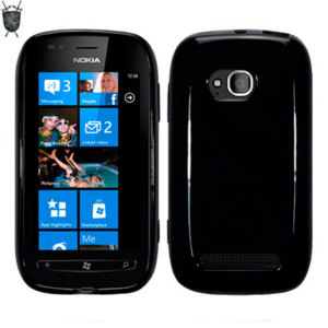 Flexishield Skin For Nokia Lumia 710 - Black