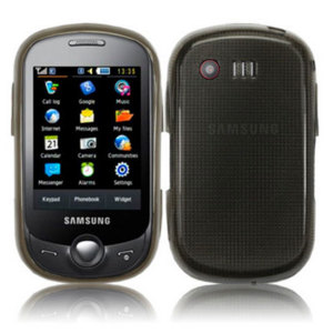 FlexiShield Skin For Samsung C3510 Genoa - Transparent Black