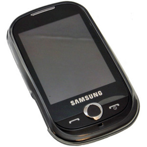 FlexiShield Skin For The Samsung Genio Touch - Transparent Black