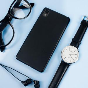 FlexiShield Sony Xperia X Gel Case - Solid Black