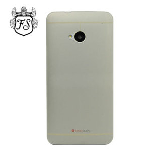 FlexiShield Ultra Thin Translucent Matte Case for HTC One 2013 - Grey