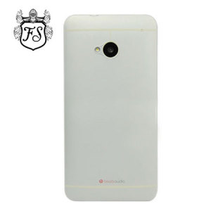FlexiShield Ultra Thin Translucent Matte Case for HTC One 2013 - White