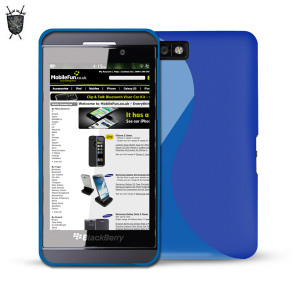 FlexiShield Wave Case for Blackberry Z10 - Blue