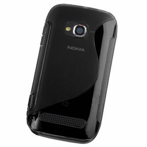 FlexiShield Wave Case For Nokia Lumia 710 - Black