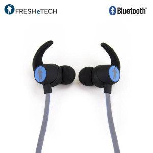 freshetech freshebuds air wireless bluetooth headphones black blue. Black Bedroom Furniture Sets. Home Design Ideas
