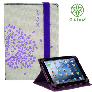 Gaiam Tree of Life iPad 4 / 3 / 2 Stand Case - Natural / Purple