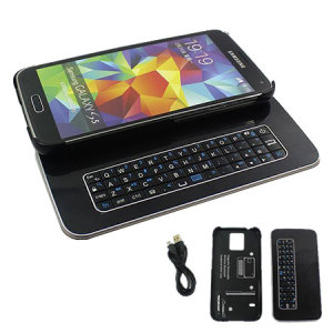 Galaxy S5 Magnetic Bluetooth QWERTY keyboard Case - Black