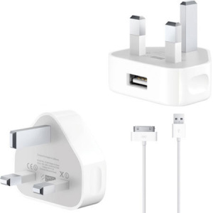 Genuine Apple Mains Charger with 30 Pin to USB lead
