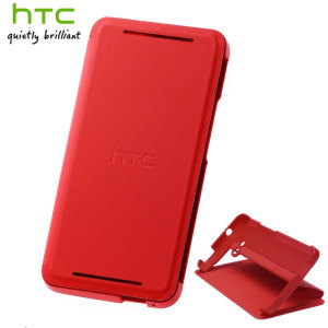 Genuine HTC One M7 Double Dip Flip Case - HC V841 - Red