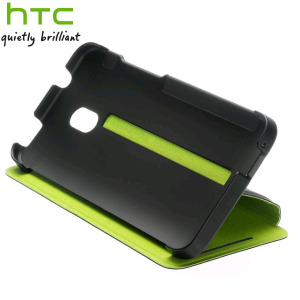 Genuine HTC One Mini Double Dip Flip Case - HC V851 - Black / Green