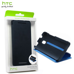 Genuine HTC One Mini Double Dip Flip Case - HC V851 - Dark Blue