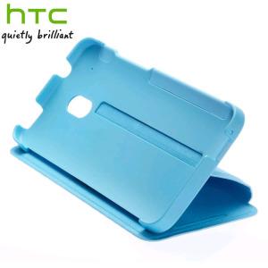 Genuine HTC One Mini Double Dip Flip Case - HC V851 - Light Blue