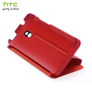 Genuine HTC One Mini Double Dip Flip Case - HC V851 - Red