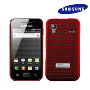 Genuine Samsung Galaxy Ace Mesh Vent Case - Red
