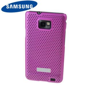 Genuine Samsung Galaxy S2 i9100 Mesh Vent Case - Pink