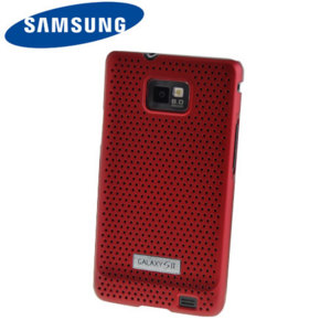 Genuine Samsung Galaxy S2 i9100 Mesh Vent Case - Red