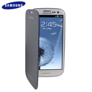 Genuine Samsung Galaxy S3 Flip Cover - Chrome Blue- EFC-1G6FBECSTD