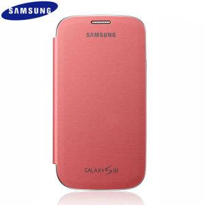Genuine Samsung Galaxy S3 Flip Cover - Pink - EFC-1G6FPECSTD