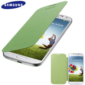 Genuine Samsung Galaxy S4 Flip Case Cover - Lime Green