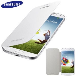 Genuine Samsung Galaxy S4 Flip Case Cover - White