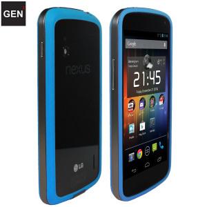 GENx Hybrid Bumper Case for Google Nexus 4 - Blue