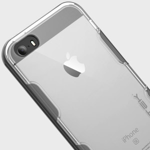 Ghostek Cloak iPhone SE Aluminium Tough Case - Clear / Space Grey