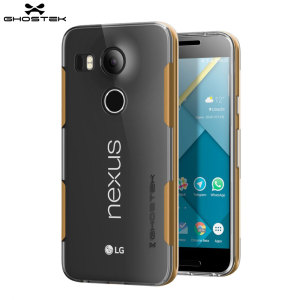 Ghostek Cloak Nexus 5X Tough Case - Clear / Gold