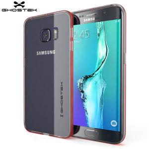 Ghostek Cloak Samsung Galaxy S6 Edge Plus Tough Case - Clear / Red