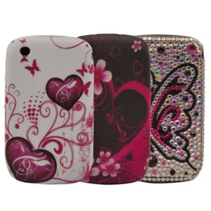 Girly Triple Pack for BlackBerry Curve 8520/9300