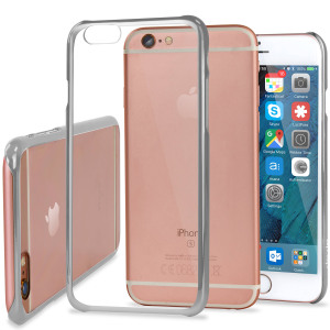Glimmer Polycarbonate iPhone 6S / 6 Shell Case - Silver and Clear