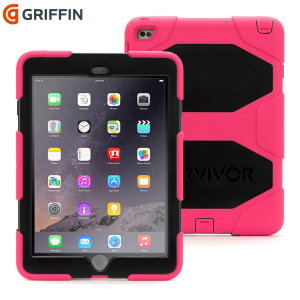 Griffin Survivor All-Terrain iPad Air 2 Tough Case - Pink / Black