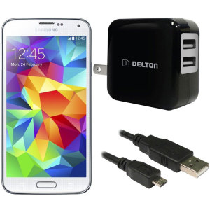 High Power 2.1A Samsung Galaxy S5 Wall Charger - USA Mains