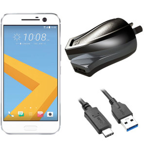 High Power 2.4A HTC 10 Wall Charger - Australian Mains